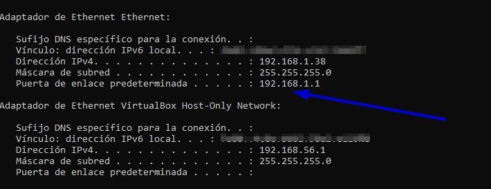 puerta enlace router